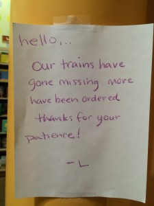 This was taped near the kids play area at Barnes and Noble in Boulder.